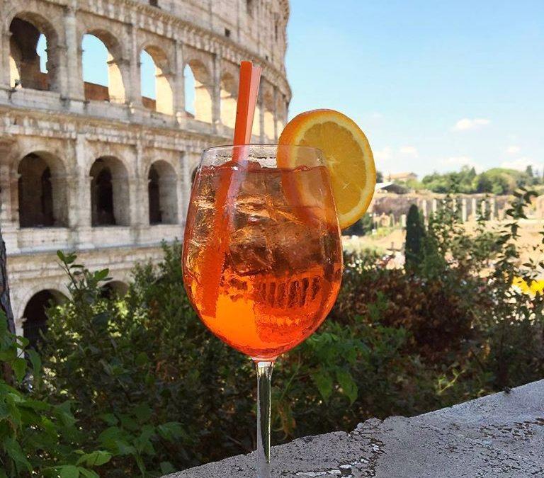Cocktails en terrasse à Rome