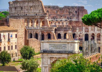 Rome sous l'Antiquité : Colisée, Forum, Palatin